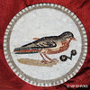 ROMAN MOSAIC - MEDALLION WITH A SPARROW AND CHERRIES
