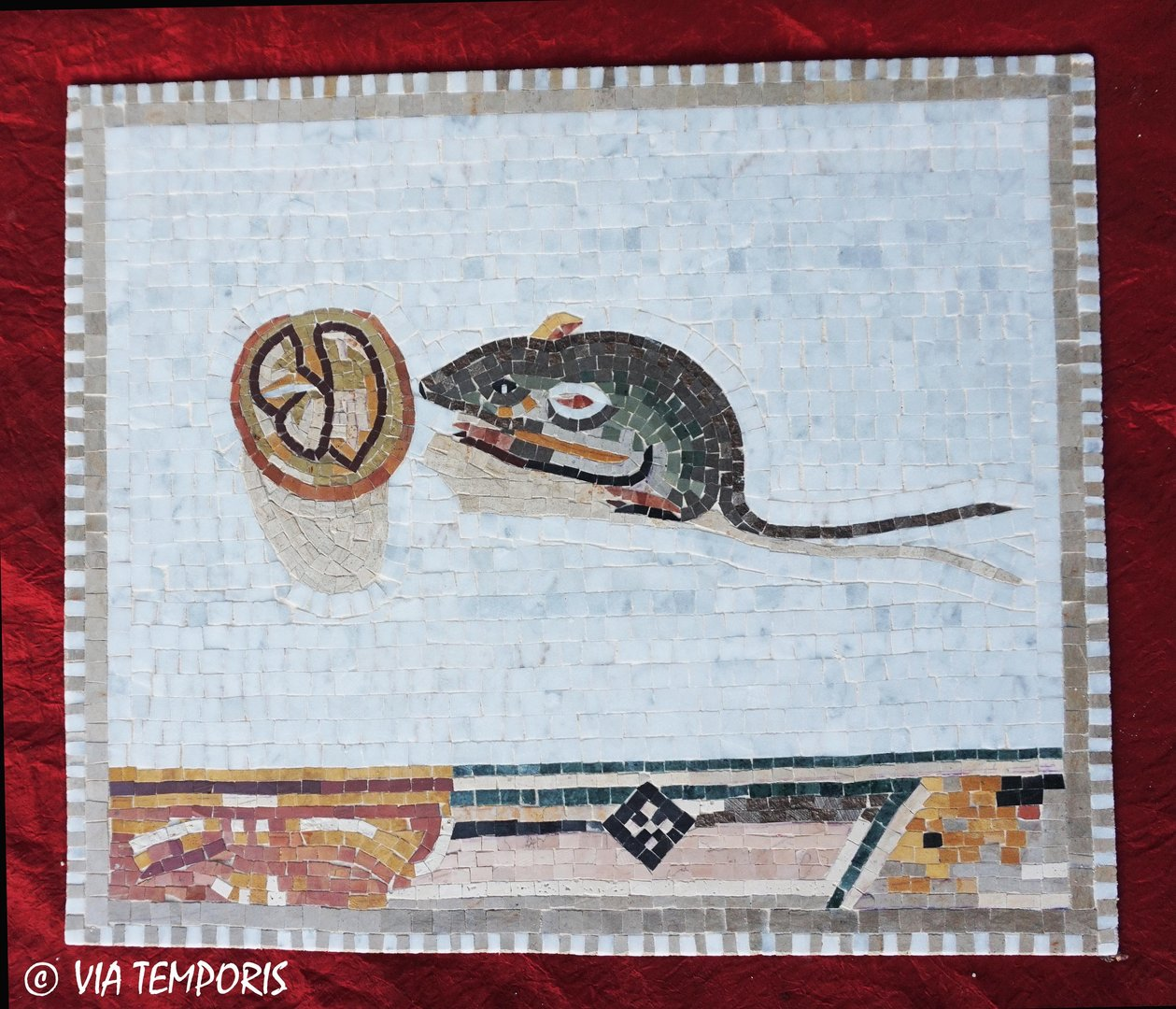 ROMAN MOSAIC - MOUSE EATING A NUT - VATICAN