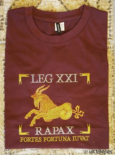 T-SHIRT OF ROMAN LEGIONS - LEGIO XXI RAPAX WITH CAPRICORN