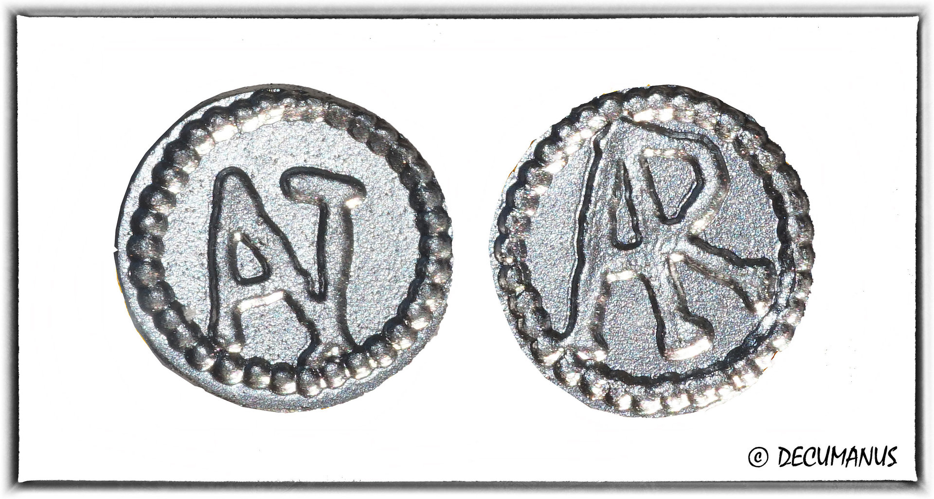 DENIER OF THE PATRICE ANTENOR - ARLES (700-726) - REPRODUCTION OF THE MEROVINGIANS