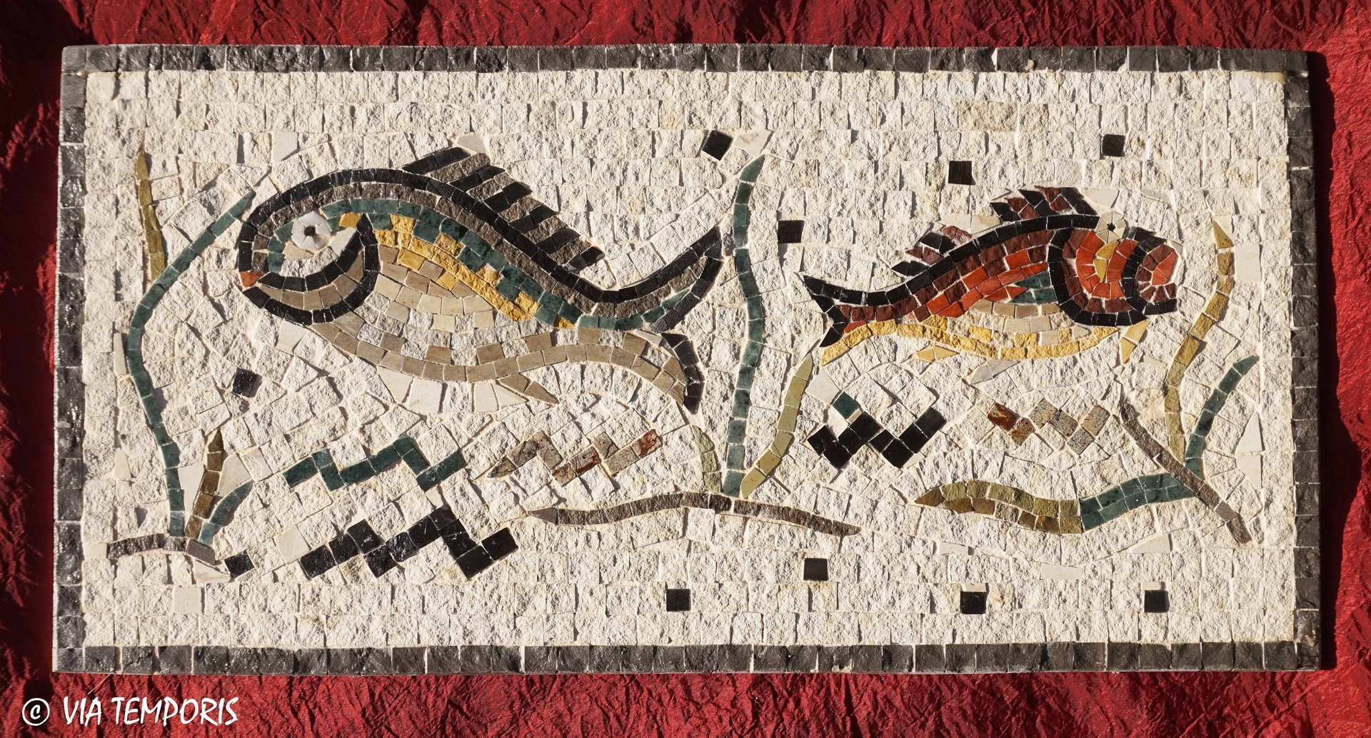 ROMAN MOSAIC - FRIEZE WITH FISHES