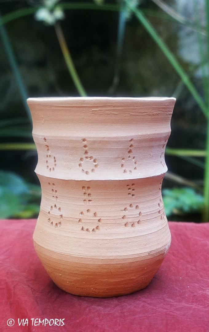 MEDIEVAL POTTERY - BIG MEROVINGIAN CUP