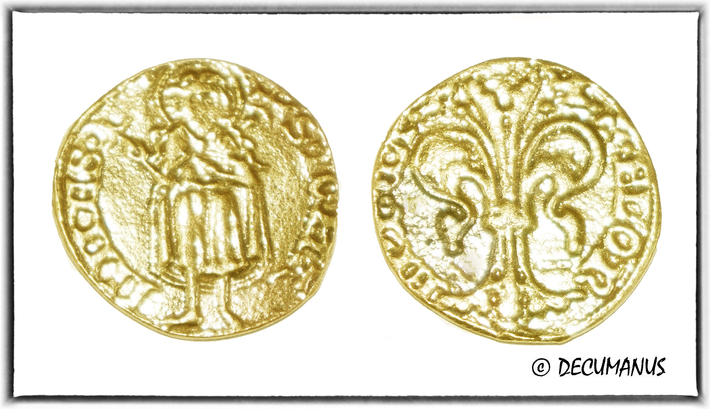 GOLD FLORIN OF FLORENCE - ITALY (1252-1303) - REPRODUCTION OF MIDDLE-AGES